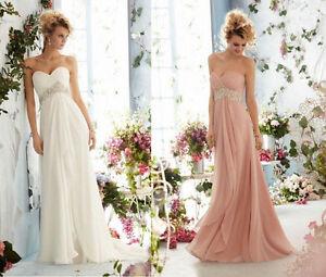 Stock-Chiffon-Sweetheart-Beaded-Bridal-Gown-Wedding-Evening-Bridesmaids-Dress