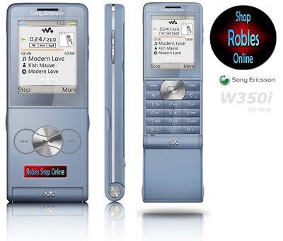 Sony Ericsson W350i Eis Blau (Ohne Simlock) 4Band Walkman FM Rarität Akzeptabel ()