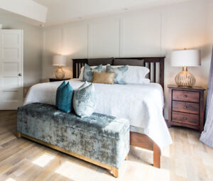 King size bed, custom made in Halifax by Geddes Furniture