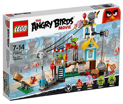 LEGO® Angry Birds™ 75824 Pig City Teardown NEU & OVP Red, Stella 2 Schweinchen ()