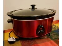 Andrew James Premium Slow Cooker with Tempered Glass Lid & Removable Ceramic Bow, 6.5 lt