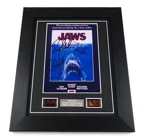 JAWS Signed PREPRINT JAWS Film Cells Framed JAWS MOVIE MEMORABILIA SHARK GIFTS