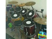 Full drum kits with cases