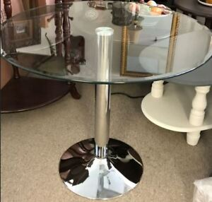 Dining Table,glass top,new in box