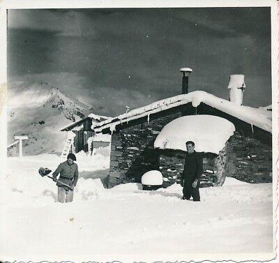 SAVOIE c. 1935 - Chasseurs Alpins Déneigement du Poste du Fréjus - PP 342