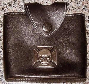 AC DC Bikers Wallet + Leather Belt Pouch with Cross and Skull London Ontario image 2