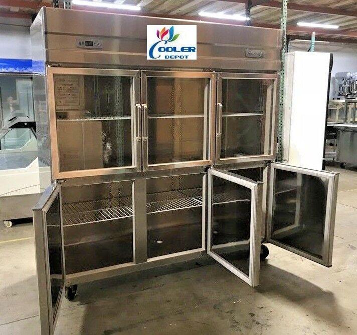 glass door refrigerator freezer combo RG466 door COMMERCIA