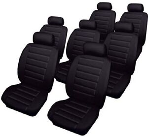 FORD GALAXY 2000 to 2007 models Leather Look Car Seat Covers in BLACK