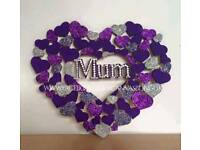 Personalised Heart Wall Plaques