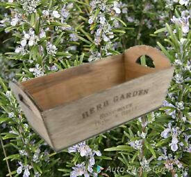 Wooden herb crate.