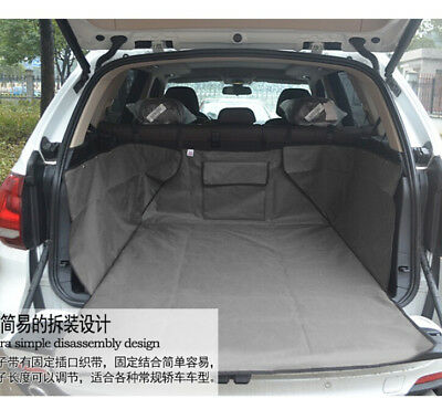 Safety Car Rear Back Seat Cover Pet Dog Cat Protector Hammock Mat Liner Gray