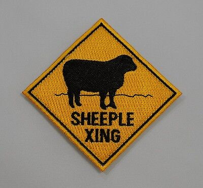 Sheeple Crossing Morale Patch - Hook and Loop Backing *Very Limited Production*