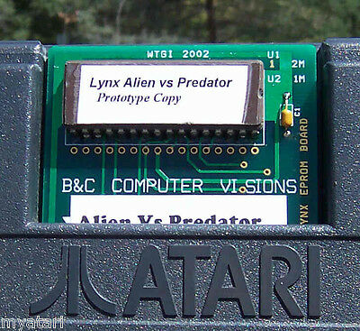 Alien Vs Predator(AVP) Unreleased Cartridge Lynx Atari Collectors!! New