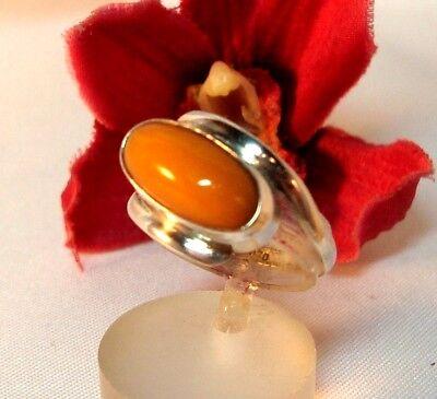 alter Butterscotch Bernstein Ring 830 Silber Bernsteinring / ce 575