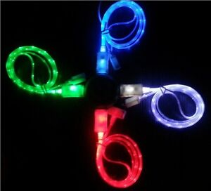 LED Micro USB charging Cable for android phone