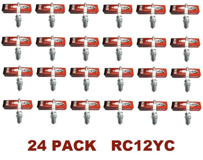 24 Genuine Champion Spark Plug RC12YC Copper Plus Fit Small