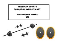 70KG IRON WEIGHTS SET BRAND NEW BOXED