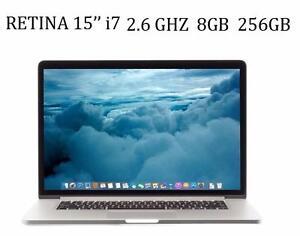 APPLE MACBOOK PRO 15''RETINA i7 2.6GHZ 8GB 256GB Nvidia GT650m+ Office Pro 2016,MASTER SUITE DE ADOBE,Logic Pro X