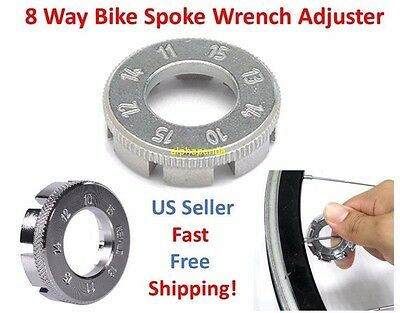 8 Way Bike Wheel Rim Nipple Spanner Spoke Wrench Steel Adjuster Repair Key Tool
