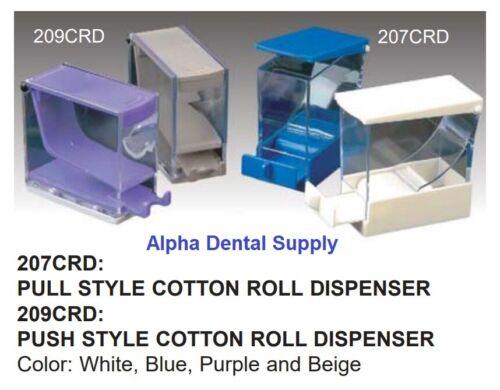 Plasdent Dental Medical Cotton Roll Dispenser Holder Pull or Push Style Plastic