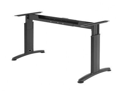 Schreibtisch Gestell -Verstellbar in BREITE und HÖHE- Profi Tischgestell-SCHWARZ - Höhe Verstellbarer Schreibtisch