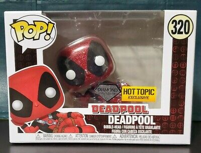 🔥Funko POP! Diamond Coll. Deadpool 320⚡FREE 2-3 DAY USPS⚡Hot Topic Exclusive!