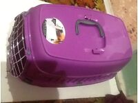 PURPLE CAT BASKET. LIGHTWEIGHT PLASTIC Good condition Collect from Exmouth