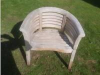 Teak garden wave chair