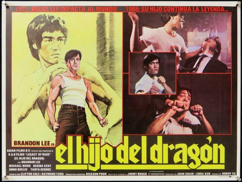 L316 LEGACY OF RAGE original Mexican Lobby Card