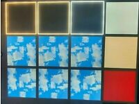 LED 600x600 Led Panel Lights 40w 48w Edge Lit RGB Colour Sky Cloud Pattern Suspended Ceiling Lights