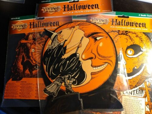 Large lot of Beistle HALLOWEEN decorations and Fortune teller Witches cut outs