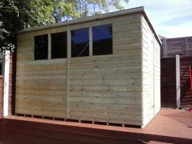 NEW 7 x 4 PENT GARDEN SHED 'BROMLEY' £350 - INCLUDES FREE DELIVERY & INSTALLATION