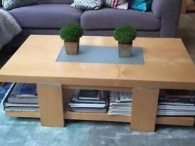 1 x coffee table and 2 matching lamp tables . strata tables by John Lewis,