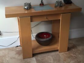 Strata John Lewis - Console Table with Glass Insert - Maple Veneer - Balham / Tooting Bec