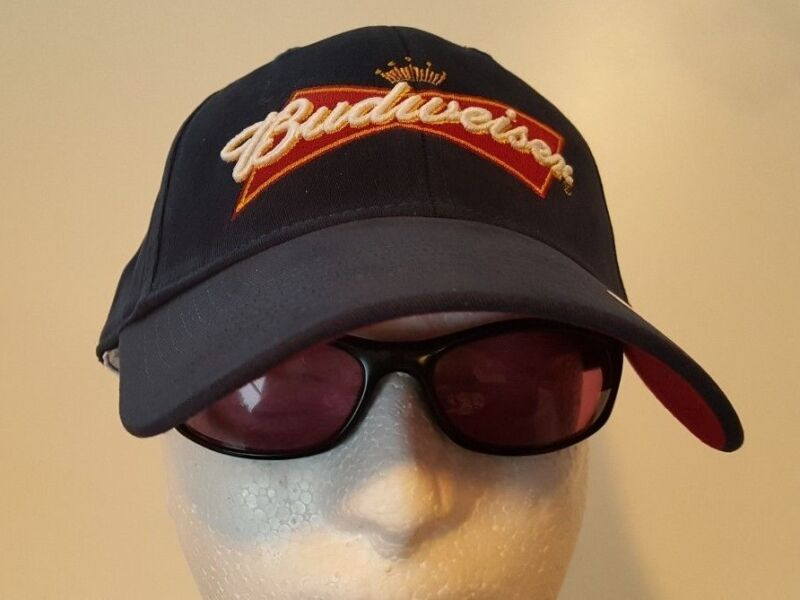 Budweiser Blue One Size Stretch to Fit Cap Hat