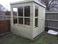 NEW POTTING SHED 8 x 5 6 £535 - SHELF EXTRA