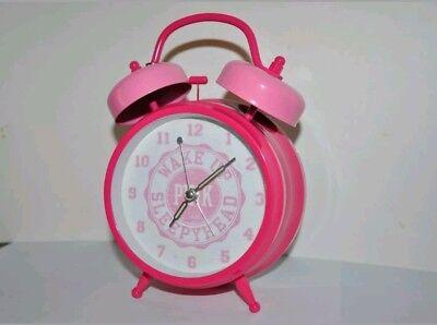 NEW RARE PINK VICTORIA'S SECRET BELL ALARM CLOCK! PROP COLLECTOR ITEM! VINTAGE!