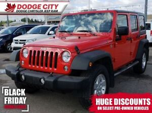 2015 Jeep WRANGLER UNLIMITED Sport 'S' 4x4 | A/C, BTooth