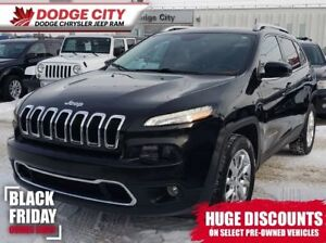 2016 Jeep Cherokee Limited 4x4 | Htd.Leather, Bup Cam, BTooth