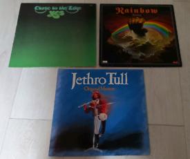 X3 Prog Rock Vinyl LP. YES, Rainbow & Jethro Tull. Great condition