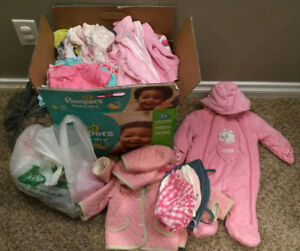 Box of Girls 6 - 12 month clothes