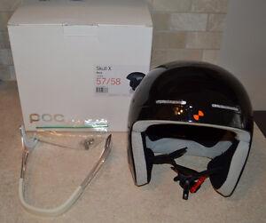POC Skull X Helmet Black Size L 57/58 cm with Chin Guard