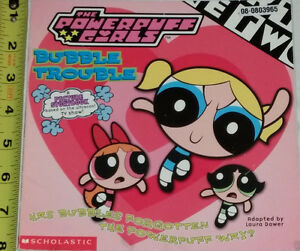 Power Puff Girls Book & 3 Toys