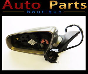 AUDI A6 OEM LEFT MIRROR ASSEMBLY WITHOUT GLASS  4F1858531P01C