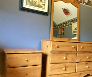 Double dresser & night stand
