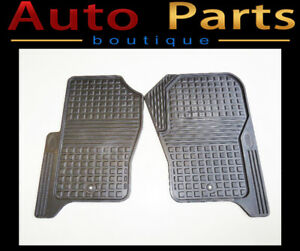 Land Rover LR3 LR4 OEM Rubber Floor Mats 1st Row LR006238