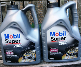 Mobil Super 2000 Oil 10W40 Diesel Semi-Synthetic 8L