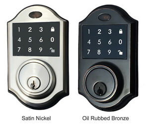 Brand New Contemporary Touchscreen Motorized Deadbolt Door Lock