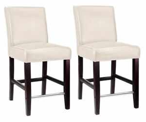 CORLIVING ANTONIO Counter Height STOOLS (Chairs) - WHT (DAD-514)