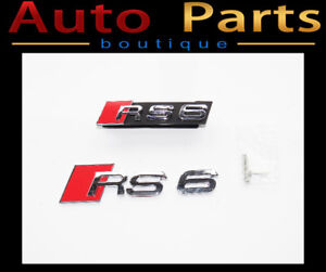 Audi RS 6 Front and Rear Badges